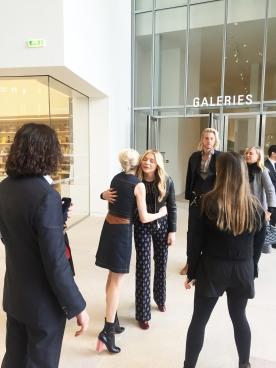 Kissing Bonjour, Michelle Williams and Chloe Moretz