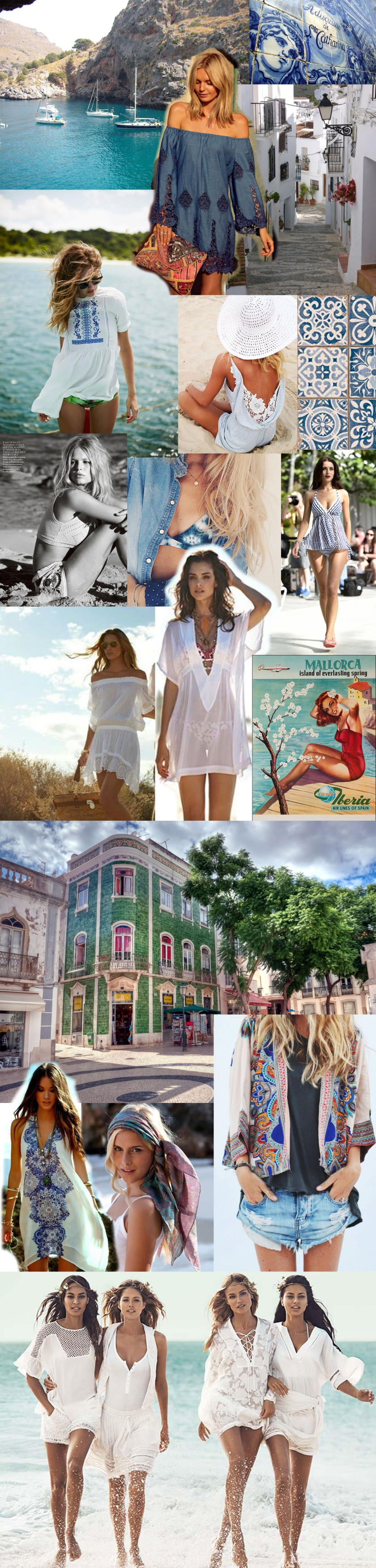 Labellecrush-summer whites & denim Mallorca moodboard copy