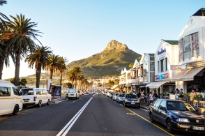 Camps bay strip with restaurants & shops